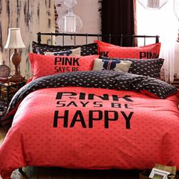 Wholesale Chinese Wedding Beds - Wholesale-3D Bedding Sets Queen size,Kids Duvet Cover Set Bed Sheet,Reactive Print Bedding,Wedding Bed Linens set,Pink Happy#HC48
