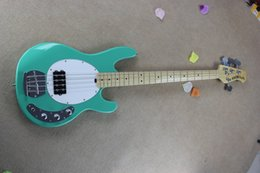 Wholesale Musicman Guitars - Free Shipping !! Hot Sale High Quality Ernie Ball Musicman Music Man Sting Ray 4 Strings Green Electric Bass Guitar HONGYU