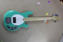 Wholesale Bass Sting Ray Strings - Free Shipping !! Hot Sale High Quality Ernie Ball Musicman Music Man Sting Ray 4 Strings Green Electric Bass Guitar HONGYU
