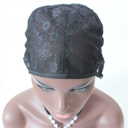 net wigs Coupons - In Stock Jewish Glueless Lace Wig Cap 5pc lot For Making Wigs With Adjustable Straps Weaving Caps For Women Hair Net & Hairnets Easycap