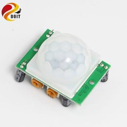 Wholesale Hc Cars - Wholesale- Original DOIT 1PCS LOT HC-SR501 HCSR501 SR501 Human Infrared Sensor Module Pyroelectric Infrared Sensor Imports Probe