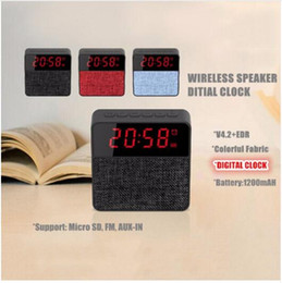 Wholesale Modern Android - Christmas gifts Alarm Clock Radio with Bluetooth Speaker Phone Chargers with USB port for iPhone iPad iPod Android and Tablets