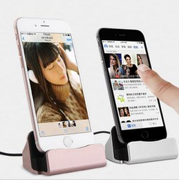 Wholesale Desktop Charging Dock - Charging Dock Station Desktop Stand Holder USB Type C Cable Phone Charger For iPhone 7 6s plus Samsung S6 S7 HTC LG Smartphones