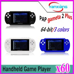 Wholesale Tft Video Out - 60pcs 64 Bit Handheld Game Console Mini Video Games Players HD TFT 4GB Game player YX-PAPPlus