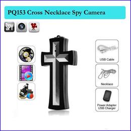 Wholesale Camera Cross - 8GB Spy Cross necklace camera cross pendant pocket spy camera pendant hidden camera Camcorder Mini pinhole Cameras in retail box
