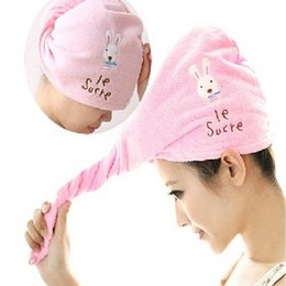 Wholesale Turban Twist Towel - Fashion Hair Towel Drying Wrap Hat Cap Turban Turbie Twist Loop Hair Magical Hair Dryer Towel