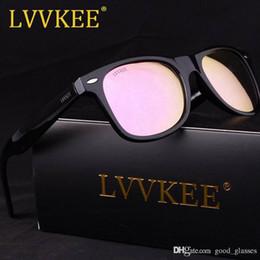 Wholesale Gafas Sport - Discount Sunglasses Men Women 50mm Cat Eye Brand Design Sun Glasses Branded Mirror Gafas de sol Mirrored Cute with cases Matte Black