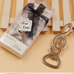 """Wholesale Diamond Wedding Favors Wholesale - DHL free wholesale 100pcs lot """"The Music of LOVE"""" Symphony Musical Note Diamond Bottle Opener Wedding Favors Bridal Shower Party Gifts"""
