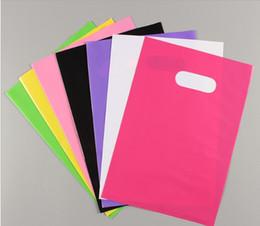 Acheter des photos en Ligne-Sacs PE simples personnalisés conception de la société sacs à provisions photo imprimée emballage en plastique sac sacs cadeau
