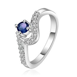 gemstone ring designs for women Coupons - fashion design mosaic shape silver jewelry ring for women WR376,fashion blue gemstone 925 silver Wedding Rings
