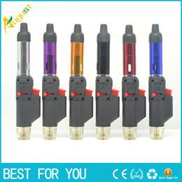 Wholesale Gas Pipe Metal - Hand sneak a vape vaporizer incense burner click n vape smoking metal pipe neak a toke lighter