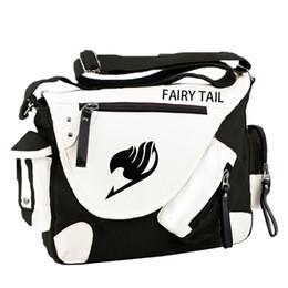 Wholesale Korean Cross Shoulder Bag Girls - Wholesale- Fashion Japan Style Anime Fairy Tail Messenger Bag Brand New Erza Cosplay Casual Zipper Boys Girls Shoulder Bag