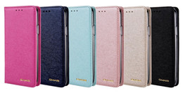 Wholesale Galaxy Note Book Cover - Silk Leather Wallet Case For iPhone X 5.8'' Galaxy Note 8 Flip Cover ID Card Slot Pouch Frame Photo Card Purse Colorful Skin Book Fashion