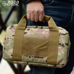 Wholesale Army Acu - Tactical Single Pistol Case Army Airsoft Pistol Hand Gun Bag Gun Rug Outdoor Soft Pistol Carrying Case 5 Colors ACU CP Multicam Army Green