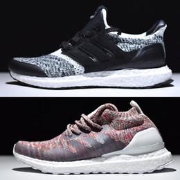 Wholesale Social Shoes - New SNS Ultra Boost Sneakersnstuff Social Status Man Women Shoes,Kith Multicolor Aspen Boosts sale,Triple Black,White,Oreo,Burgundy Ultras 3