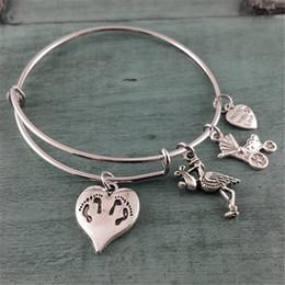 2019 двойные браслеты Близнецы, браслет матери, браслет Браслет ручной работы ювелирные изделия Шарм браслет подарок для нее дешево двойные браслеты