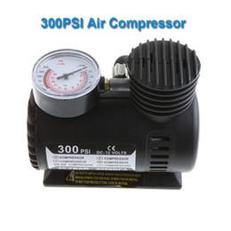 Wholesale Dc Electric Pump - HOT SALE Portable Car Auto DC 12V Electric Air Compressor Tire Inflator 300PSI Automobile Emergency Air Pump