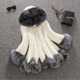 Wholesale White Mink Collar - 2016 winter new imitation fox fur coat mink Middle East luxury women long coat faux fur jacket coat women dress large size 6XL