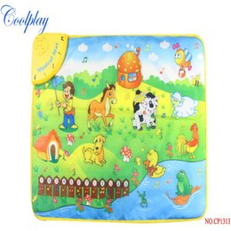 Wholesale Music Piano Animal Farm - Wholesale- Coolplay CP1313NC 69x50cm Music Animal Voice Singing Piano Farm baby play gym mat, baby game carpet, baby Travel Gym Play