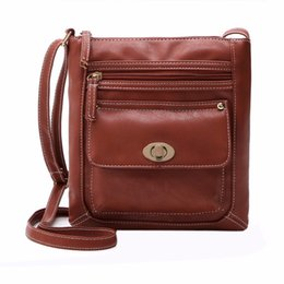 Wholesale Satchel Hobo Bags - 2017 New Promotion Women PU Leather Vintage Messenger Bags Hobo Tote Satchel Female Famous Designer Crossbody Bag