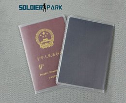 Wholesale Document Protector - Wholesale-Outdoor Camping Travel Waterproof Passport Protective Covers Translucent Frosted PVC Document Bag Protector ID Card Holder Case