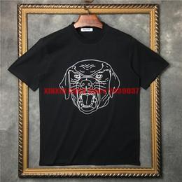 dibujar ropa Rebajas Ropa de marca de lujo 2017 nuevos hombres de manga corta dibujo en línea cervatillo Bambi imprimir camiseta clásica de impresión camiseta de la camiseta del diseñador de algodón tops