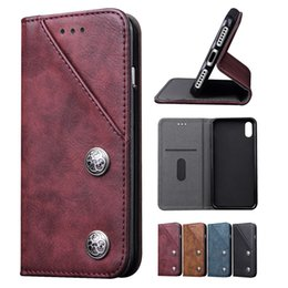 Wholesale Galaxy Note Credit Card Case - Credit Card Wallet Case for iPhone X 8 7 6S Leather Flip Pouch Covers for iPhone8 Samsuang Galaxy Note 8 Note8
