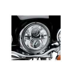 "Wholesale Hid Projector Headlight Kits Motorcycles - 7"" LED Headlight For Harley Davidson MOTORCYCLE CHROME PROJECTOR DAYMAKER HID LED LIGHT BULB Jeep Wrangler LED Headlamp"