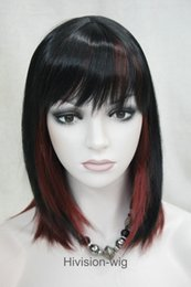 Wholesale Natural Hair Bangs Extensions - free shipping beautiful charming hot NEW 12 Color Short Straight bangs Women Ladies Daily Hair wig Hivision Natural
