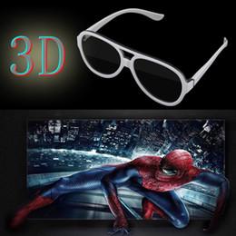 Wholesale Universal Cinema - Wholesale- Universal Polarized 3D Glasses Passive Google Cardboard VR Virtual Reality 3D Game Movie TV Cinema Theatre Plastic Frame Glasses