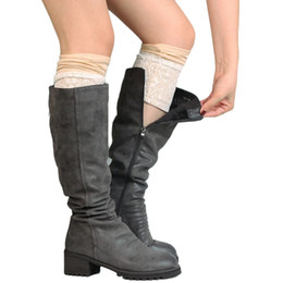 Wholesale Womens Lace Boot Socks - Wholesale- Women Leg Warmers knit boot cuffs Womens lace leg socks