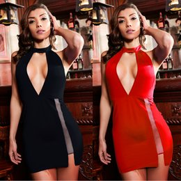 Wholesale Beauty Clothing - Beauty Garden 2017 Women Clothes Sexy Club Dress Off Shoulder Sleeveless Split Deep V-neck Backless Dress Party Evening Dresses