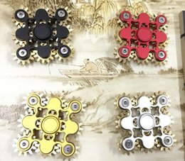 Wholesale Metal Linkage - New Arrive Nine teeth linkage fidget spinner EDC Hand Spinner Fidget Toy decompression anxiety Finger Toys gold hand spinner nine gears DHL