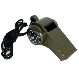 Wholesale Thermometers For Children - portable camping whistle with COMPASS thermometer 3 founction combine to one outdoor tool for children for adult