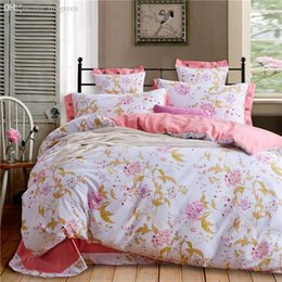set floral sheet vivid printed royal luxury bedding choice for bedroom duvet cover 4pcs queen bedspread on sale