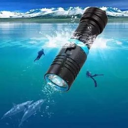 Wholesale Diver Diving Flashlight - 100M flashlight led underwater flashlights diving torch light diver XM-T6 rechargeable waterproof 18650 or 26650 battery