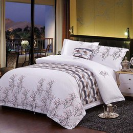 Wholesale Machine For Chocolate - Contracted style fashion diverse printing patterns white 100% cotton bedding sets for bedroom and Upscale hotel