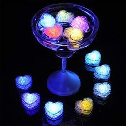 Wholesale Cube Lights Decoration - LED Light Ice Cubes Flash Liquid Sensor Water Submersible LED Glow Light Up for Bar Club Wedding Party Champagne Tower Christmas Decoration