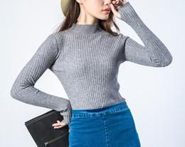 Wholesale Girls Sweater Knit Pattern - Spring autumn and winter. New pattern. Women's Clothing. Long sleeve. Monochromatic. Women's Sweaters. Ladies dress. Girls. Keep warm.nylon.