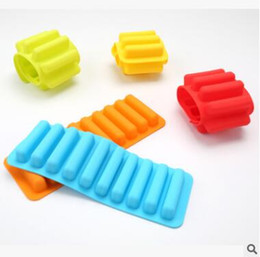 Wholesale Silicone Bakeware Mould Mold - Lady Finger Mould Silicone Bakeware Mold Chocolate Molds 10 Holes Long Finger Cake Molds Thumb Cookies Moulds Cooking Tools 515