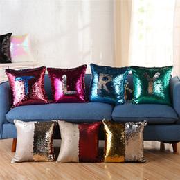 2019 panno per arredamento Vendita calda 9 colori Creativo Sequined PillowCase famiglia copertura del cuscino Divano Decor Tessili copertura di stoffa IA835 panno per arredamento economici