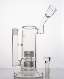 Wholesale Stereo Glasses - Mobius Stereo Matrix perc- 2 layers recycler oil rigs bong 10.6 inches glass water bongs pipes Tube with Stereo Perc heady glass