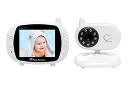 Wholesale Digital Wireless Monitor - 3.5 inch Color Video 2.4GHz Wireless Baby Monitor 2 Way talk Night IR Vision Camera With Temperature Monitoring