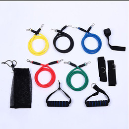 Wholesale Latex Resistance Bands Wholesale - 11 PCS in 1 Set Latex Resistance Bands Fitness Exercise Tube Rope Set Yoga ABS Workout Fitness Dropshipping