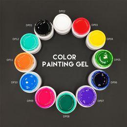 Wholesale Green Acrylic Paint - Wholesale-MONASI 2016 Hot Sale 3D Manicure Gel Nail Polish Paint Color Gel Draw Painting Acrylic UV Bio Gel Long-lasting DIY Nail Art