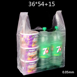 Wholesale Fast Shop Shopping - 50 Pcs 36x54cm 0.05mm Thickened Clear PE Plastic Shopping Bags   Shopping Food Bag   Supermarket Fast Food Bag