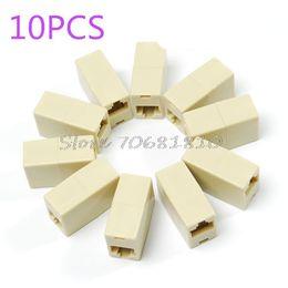 Wholesale Drop Shipping Cables - Wholesale- 10PCS RJ45 RJ-45 Ethernet Net network LAN Coupler Plug Adapter connections #R179T#Drop Shipping