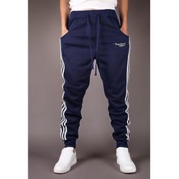 Wholesale Slim Fit Trousers Wholesale - Wholesale- 2017 Hot Sale men's casual pants Slim Fit pants comfortable wild pants collapse men fashion Sweatpants Joggers Trousers