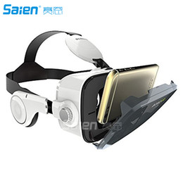 """Wholesale Iphone Control Build - 3D VR Glasses, Virtual Reality Headset Built-in Headphone with Remote Control, Compatible with iPhone   Samsung and 4.0""""-6.0"""" Smartphones"""