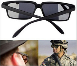 Wholesale Gadgets Free - FBI Detective Rear View Spy Mirror Mirrored Sunglasses Novelty Gadget See what Behind you10pcs lot Free Shipping